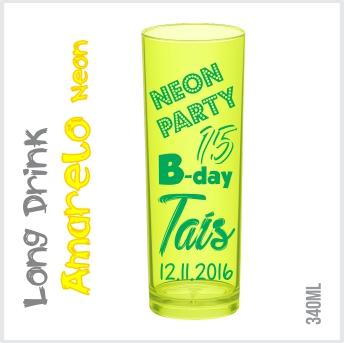 a9af337f1 Copo Personalizado Long Drink Amarelo Neon